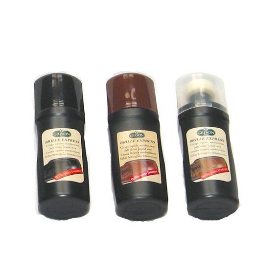 Crema zapatos con esponja dosificadora. Color: Negro, marrón e incolora